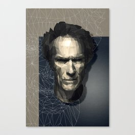 Low Poly Clint Canvas Print