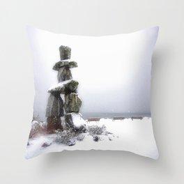 Inukshuk, Vancouver Throw Pillow