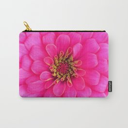 Hot Pink Zinnia Blooming Close Up  Carry-All Pouch