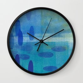 Blue Lyric 3 Wall Clock