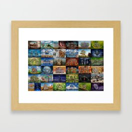 Super Collage - House Framed Art Print