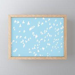 Happy Birds Aqua Framed Mini Art Print