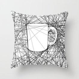 Coffee Web Throw Pillow