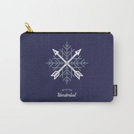 Winter Wanderlust (blue) Carry-All Pouch