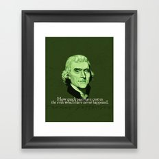 How Much Pain Have Cost Us Framed Art Print