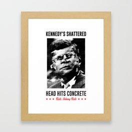 Misfits JFK Poster Series - Head Hits Concrete Framed Art Print