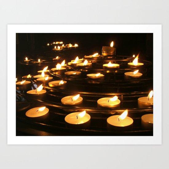 Joan of Arc's Candles Art Print
