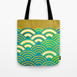 Seigaiha or seigainami literally means wave of the sea. Merry Christmas card Tote Bag
