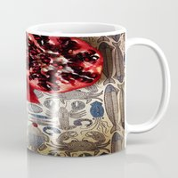 pomegranate Mugs featuring Pomegranate  by Carey Lee Designs