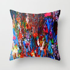 color mix / palette knife abstract Throw Pillow