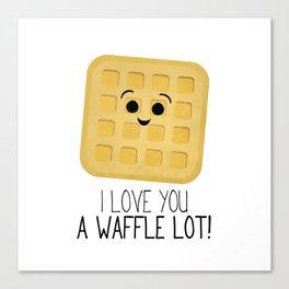 I Love You A Waffle Lot! Canvas Print