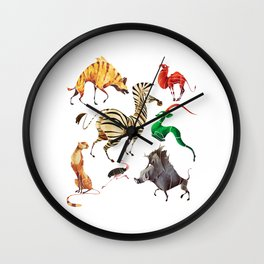 African animals 2 Wall Clock