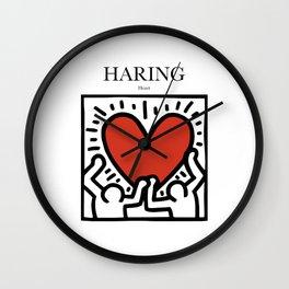 Haring - Heart Wall Clock