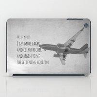 helen iPad Cases featuring Helen Keller Horizon by KimberosePhotography