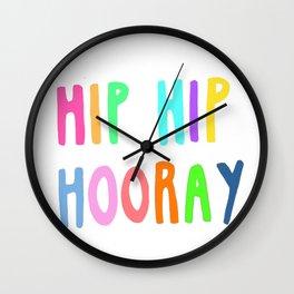 Hooray Wall Clock
