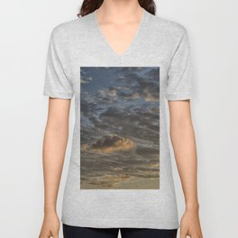 CLOUDS AT THE SUNSET Unisex V-Neck