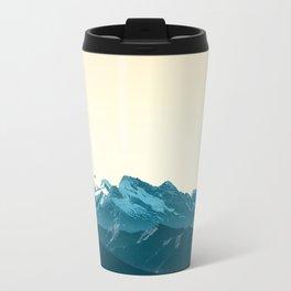 turquoise mountainscape Travel Mug