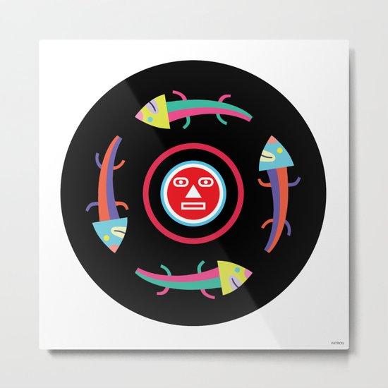 Circles of Gators Metal Print