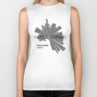 melbourne Biker Tanks featuring Melbourne Map by Shirt Urbanization