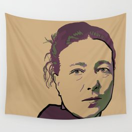Simone de Beauvoir Wall Tapestry