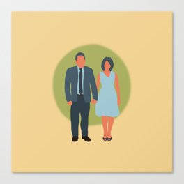 Save the Date - The Couple - Love Canvas Print