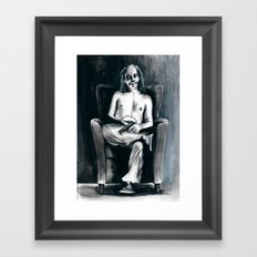 The Clown Who Wasn't Funny Framed Art Print