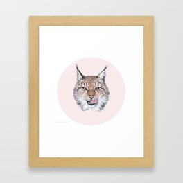 Lynx Lynx portrait Framed Art Print