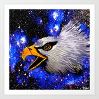 eagle Art Prints featuring Eagle by Saundra Myles