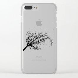 Larva Tree Ink Art Clear iPhone Case