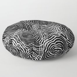 Operatic Waveform - Black Floor Pillow