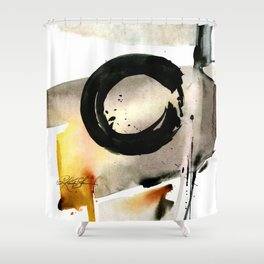 Enso Abstraction No. 105 by Kathy morton Stanion Shower Curtain