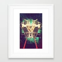 saga Framed Art Prints featuring Galactic Cats Saga 1 by Carolina Nino