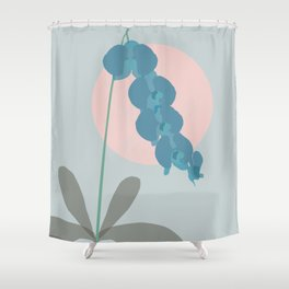 Teal Orchid Dreams Shower Curtain