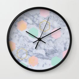 Marbled Wall Clock