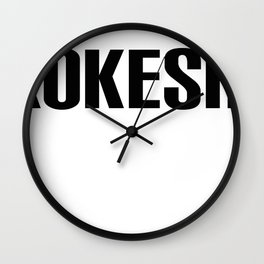 KOKESHI FONT DESIGN Wall Clock