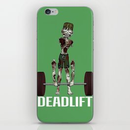 Crossfit Zombie by RonkyTonk doing Deadlift iPhone Skin
