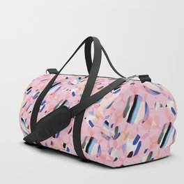 Pink Abstract Platelet #expressive #pink Duffle Bag