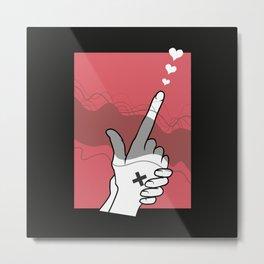 Finger gun Love Metal Print