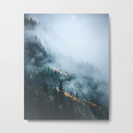 Fog in Autumn Metal Print