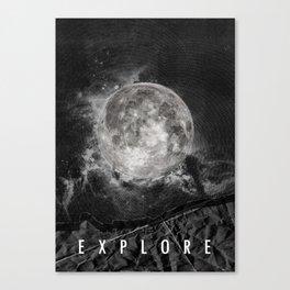 Explore the Moon Canvas Print