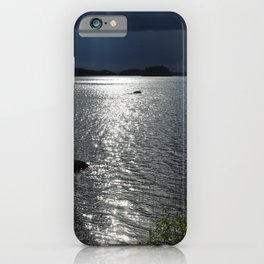 Before Rain - Lakescape by the Night #decor #society6 #buyart iPhone Case