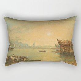"J.M.W. Turner ""Teignmouth, Devonshire"" Rectangular Pillow"