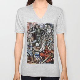 Jose Clemente Orozco - The Demagogue - Digital Remastered Edition Unisex V-Neck