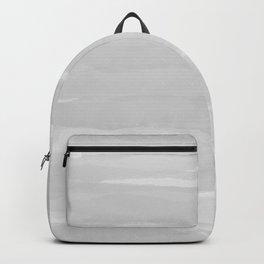 Gray Abstract Brush Print Backpack