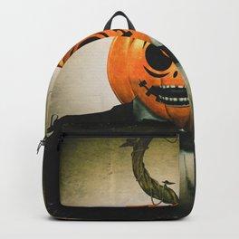 Evil Pumpkin Man Backpack