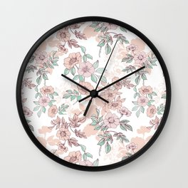 Timeless rose Wall Clock