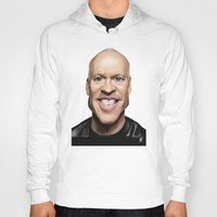 celebrity Hoodies featuring Celebrity Sunday ~ Michael Keaton by rob art | illustration