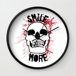 Smile More Wall Clock