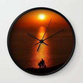 Walk The Path To The Sun Wall Clock