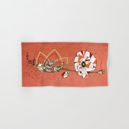 Coquelicot - geometric flower Hand & Bath Towel